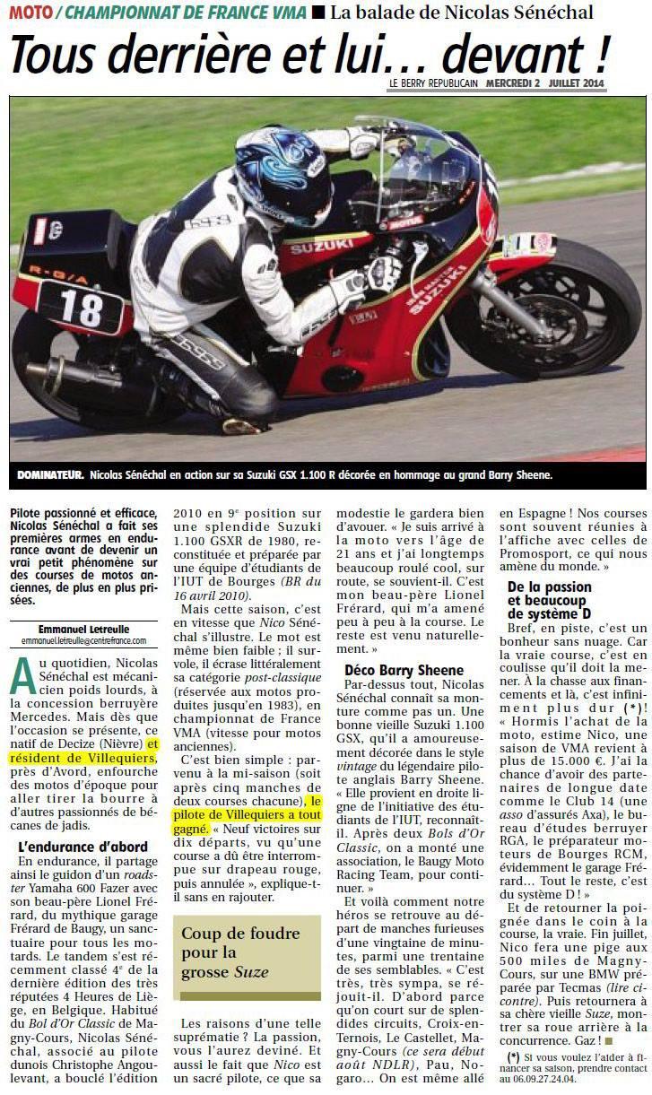 Article Le Berry Républicain du 02-07-2014